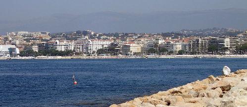 Cannes palais des festivals et port